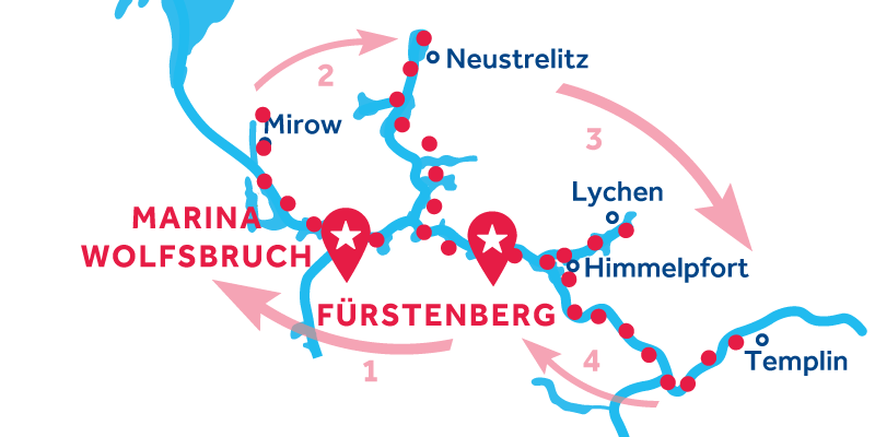 Fürstenberg IDA Y VUELTA vía  Mirow, Neustrelitz & Templin