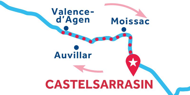 Castelsarrasin IDA Y VUELTA vía Valence d'Agen