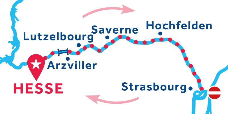 Hesse IDA Y VUELTA vía Strasbourg