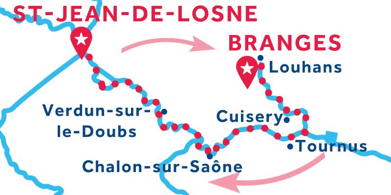 Saint-Jean-de-Losne IDA Y VUELTA vía Louhans