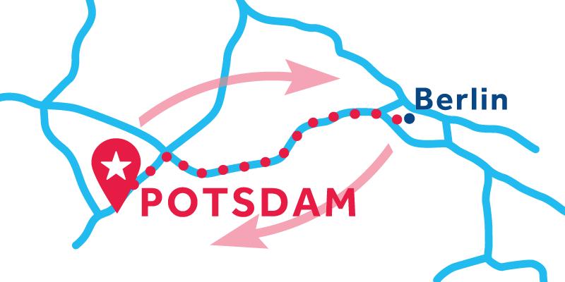 Potsdam IDA Y VUELTA vía Berlín (Licencia obligatoria)