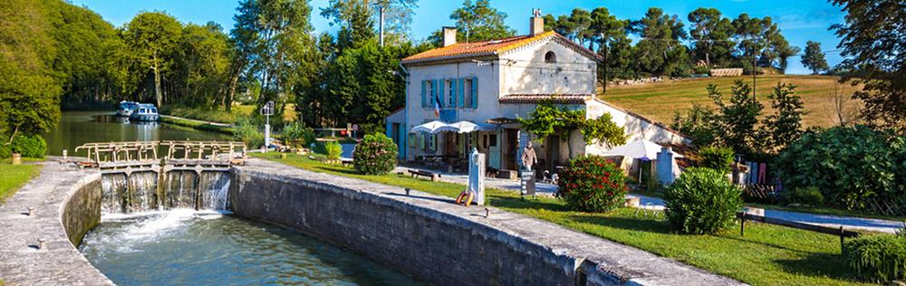 Esclusa en el Canal du Midi