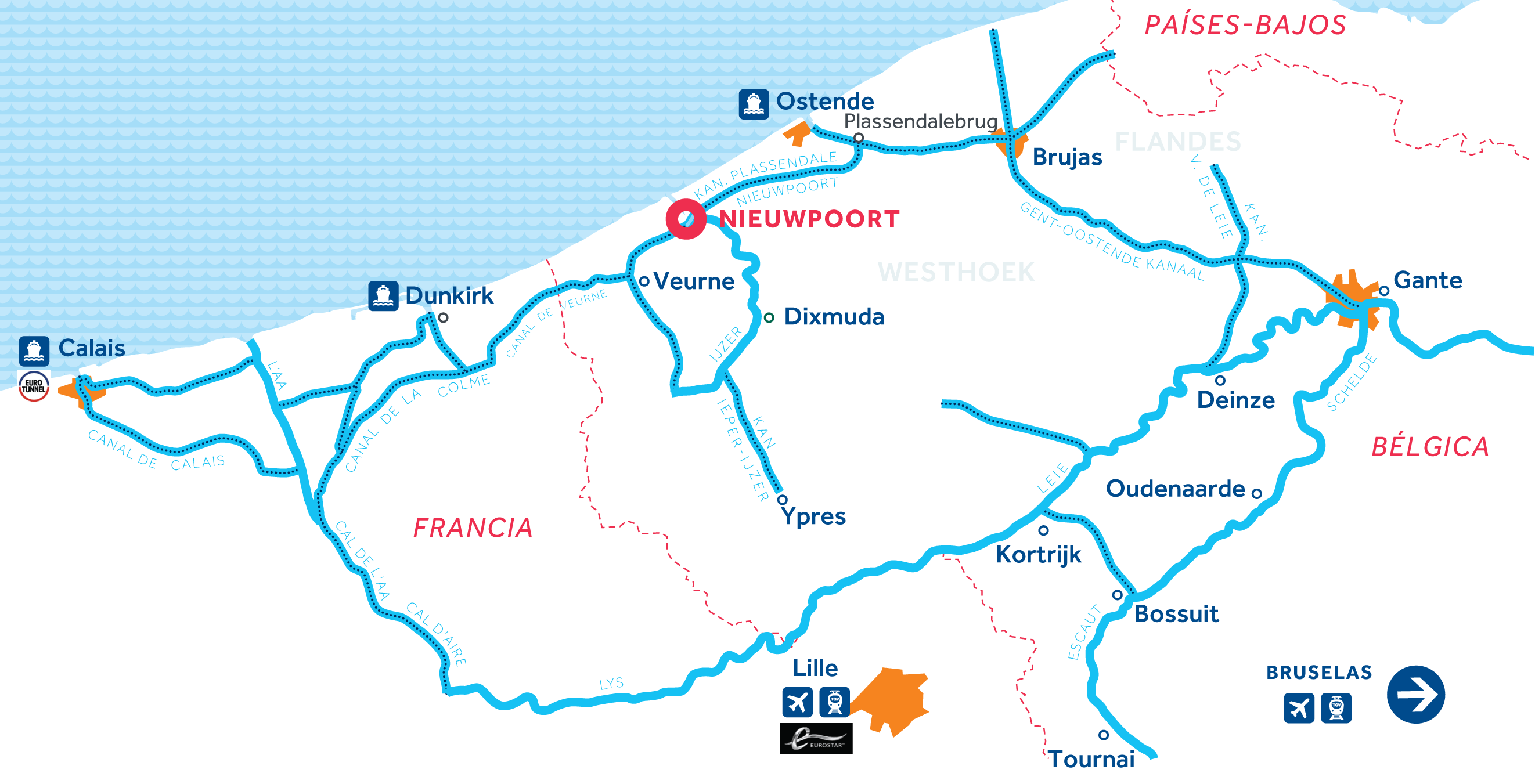 Mapa: Flandes