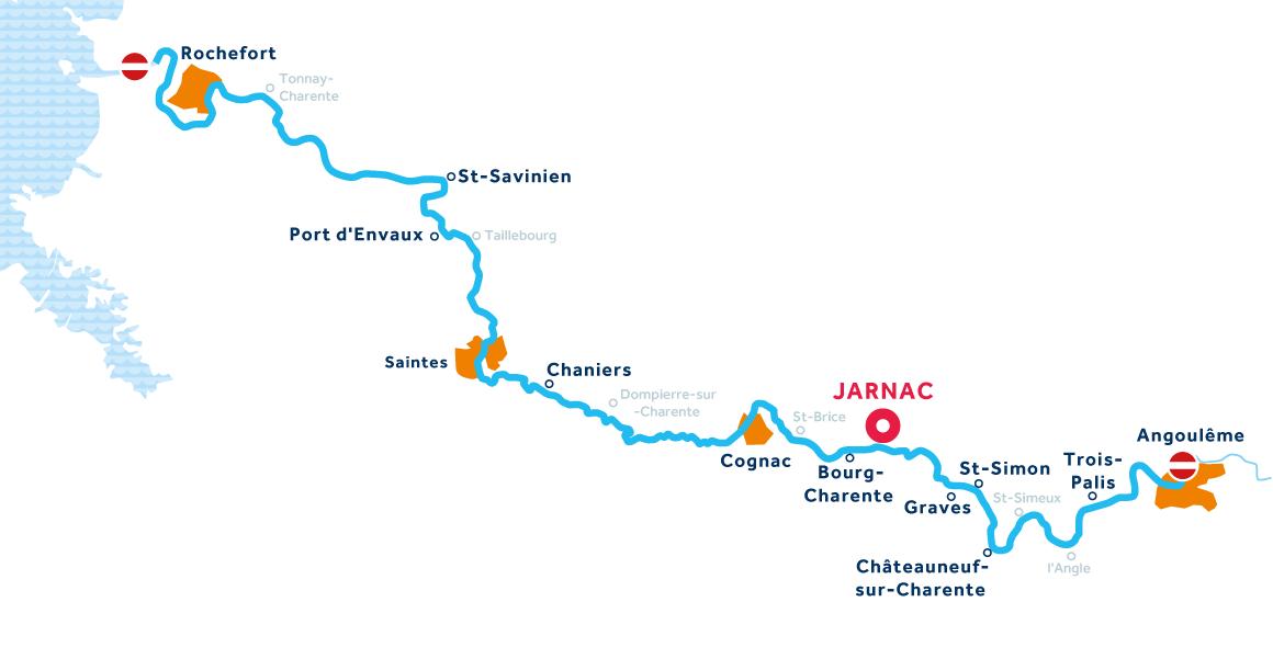 Mapa: Charente