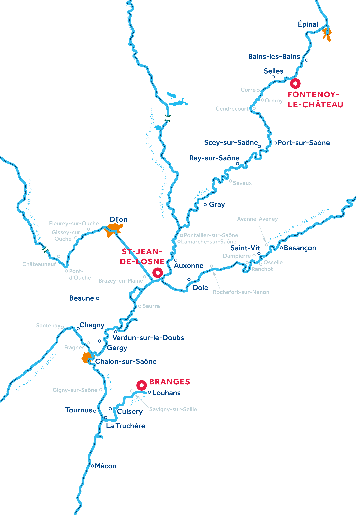 Mapa: Borgoña: Franche-Comté