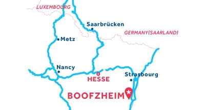 Mapa de ubicación de la base de Boofzheim