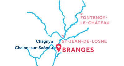 Mapa de ubicación de la base de Branges