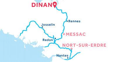Mapa de ubicación de la base de Dinan