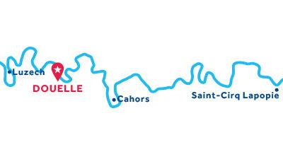 Mapa de ubicación de la base de Douelle