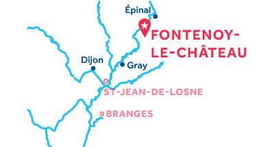 Mapa de ubicación de la base de Fontenoy-le-Château