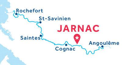 Mapa de ubicación de la base de Jarnac