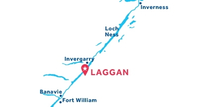 Mapa de ubicación de la base de Laggan