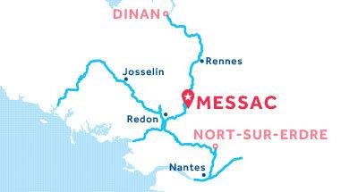 Mapa de ubicación de la base de Messac