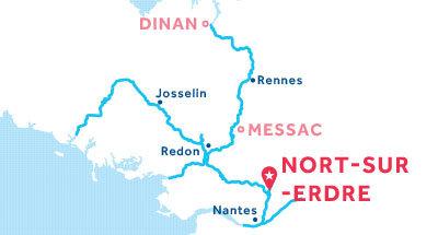 Mapa de ubicación de la base de Nort-sur-Erdre