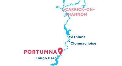 Mapa de ubicación de la base de Portumna