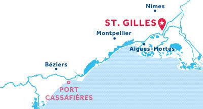 Mapa de ubicación de la base de St. Gilles