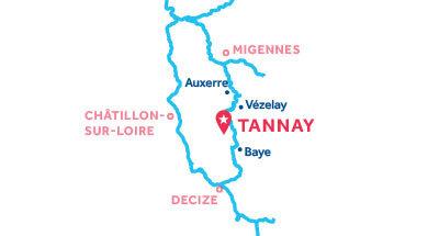 Mapa de ubicación de la base de Tannay