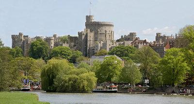Castillo de Windsor visto desde el Támesis