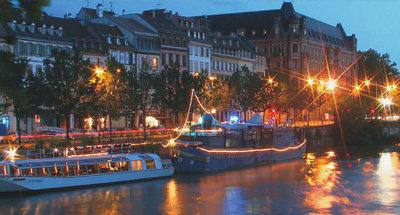 Barcos de noche en Aquitania
