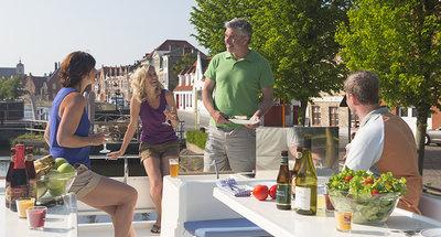 Cena en la terraza en Bélgica