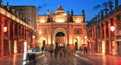 Plaza Stanislas de noche, Nancy