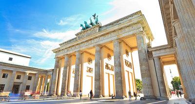 Los arcos históricos de la puerta de Brandenburgo