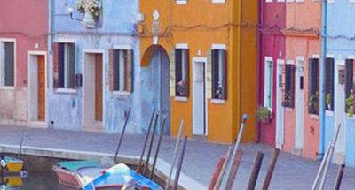 Casas coloridas en Venecia