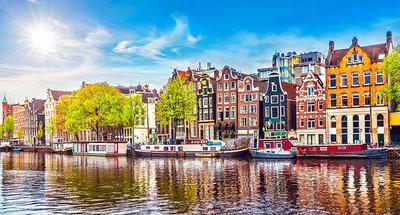 Casas típicas en Amsterdam