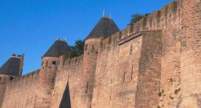 Murallas de la Ciudad Medieval de Carcassonne en el Midi
