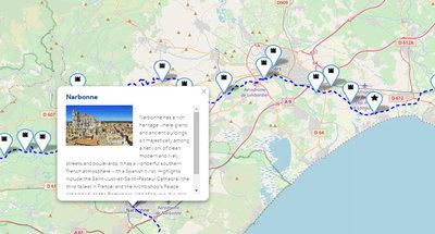 Mapas interactivos con los puntos de interés claves