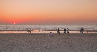 Playa en Bélgica