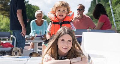 Navegación en familia en el Rideau
