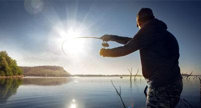 Pesca en los lagos a lo largo del Rideau