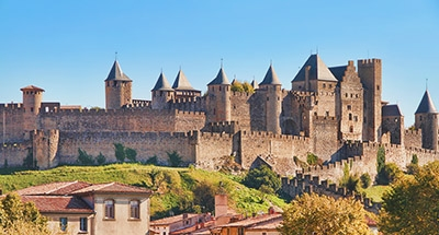 Carcassonne on the Canal du Midi