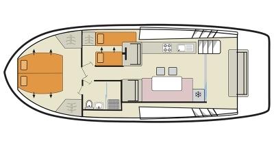 Plan de cubierta del Horizon 1