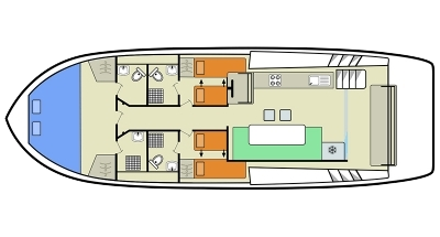 Plan de cubierta del Horizon 3
