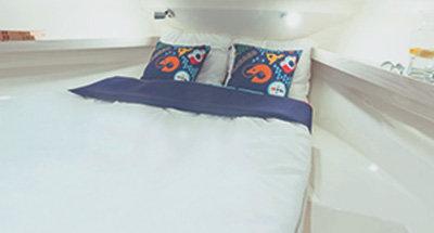 Cabinas y cuartos de baño del Horizon 1
