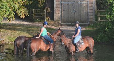 Paseo a caballo en Inglaterra
