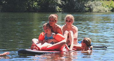 Natación en el Río Lot