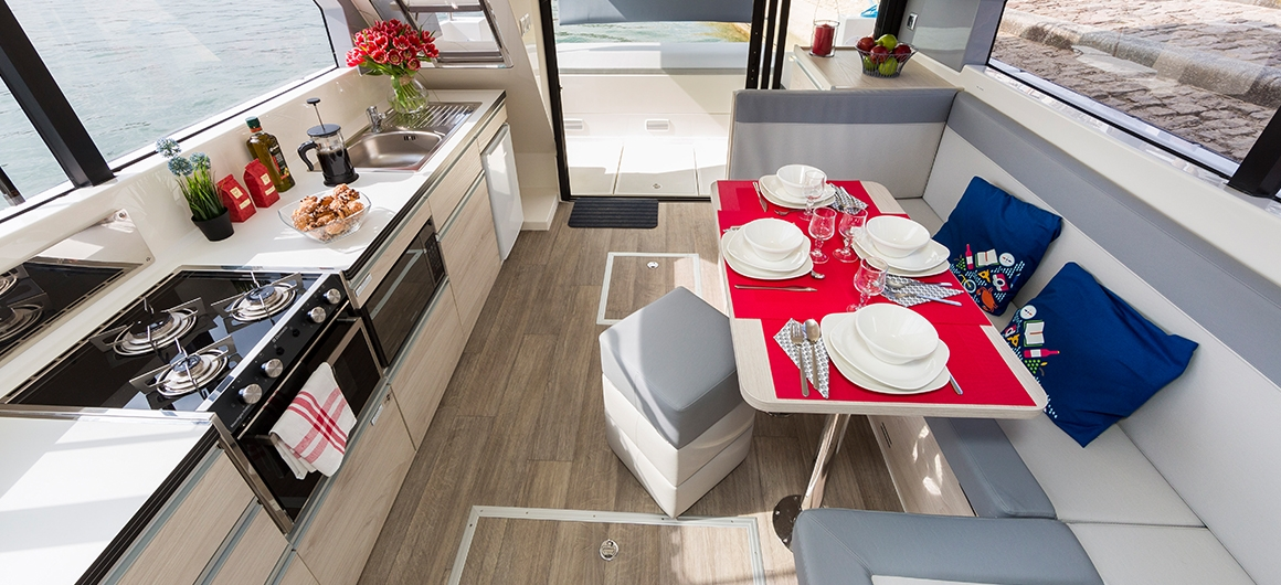Salón y cocina del Horizon 1