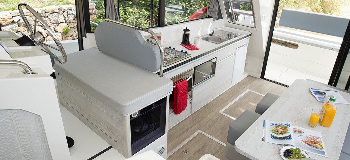 Salón y cocina del Horizon 3