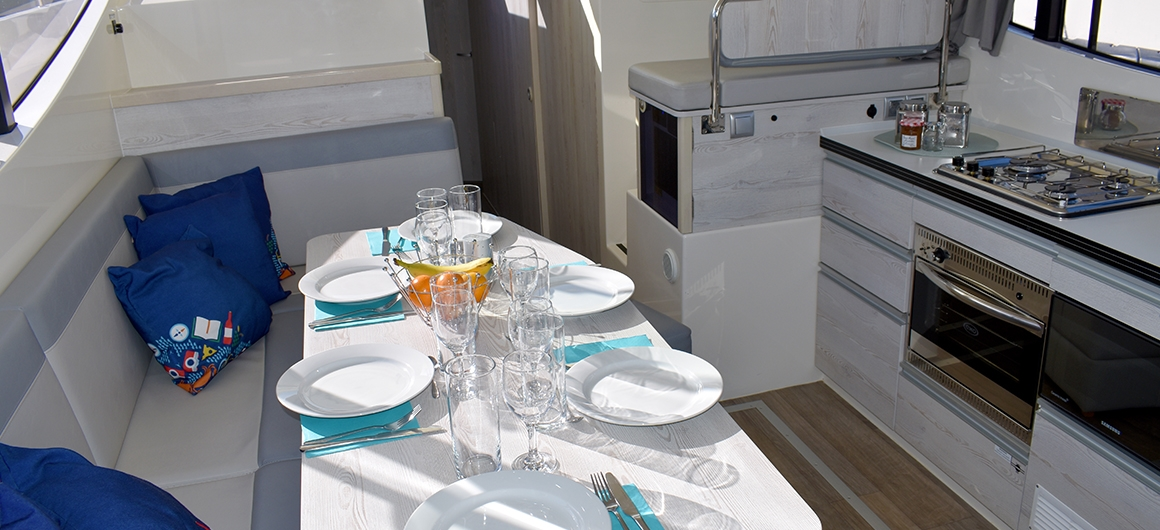 Salón y cocina del Horizon 4