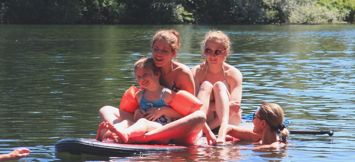 Deportes acuáticos en familia
