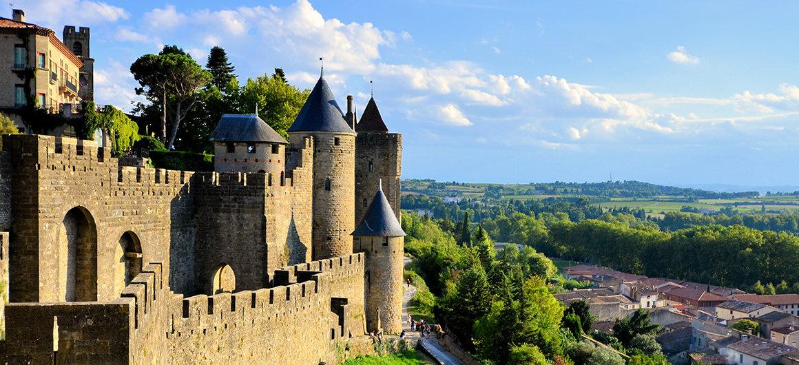 Vista sobre Carcassonne, Canal du Midi