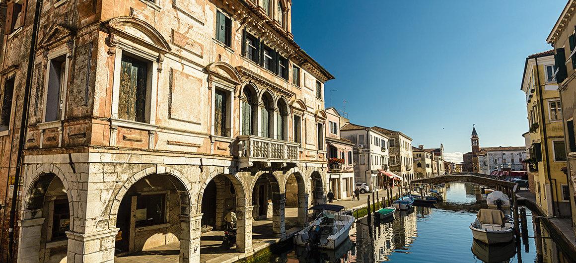 Ciudad costera de Chioggia