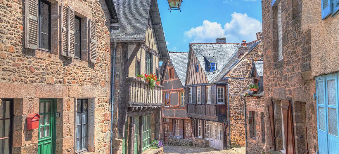 Calles en Dinan, Bretaña