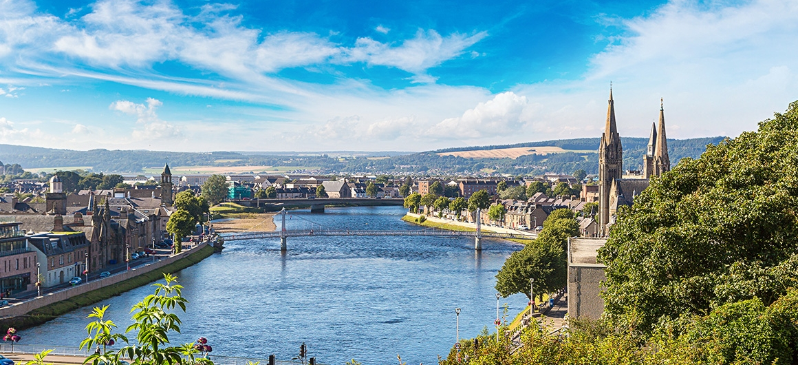 Vistas de Inverness, Escocia