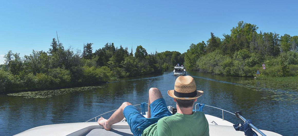 Navegación cerca de las esclusas de Chaffey's, Canadá
