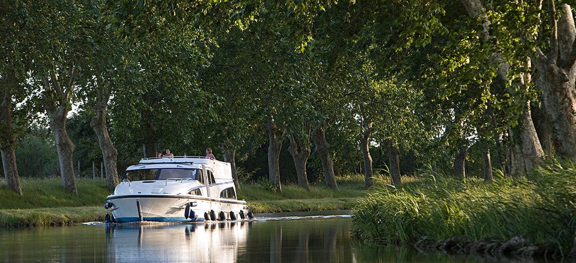 Árboles a lo largo del Canal du Midi