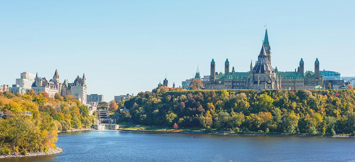 Colina del Parlamento en Ottawa, Canadá